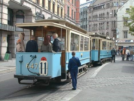 A tram in the good, old days