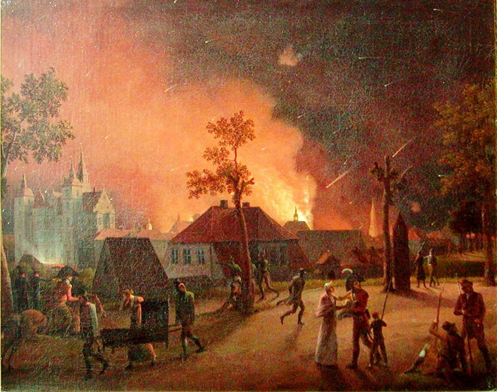 Bombardment of Copenhagen, night of 4 September 1807