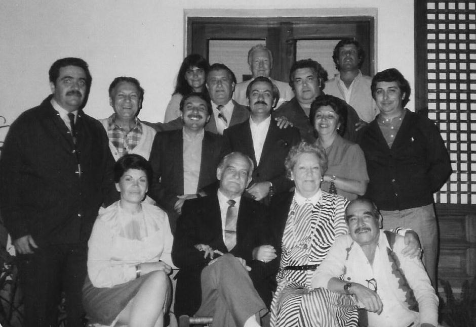 Carl y Merete Hudtwalcker con miembros de Familia, Lima, 1984